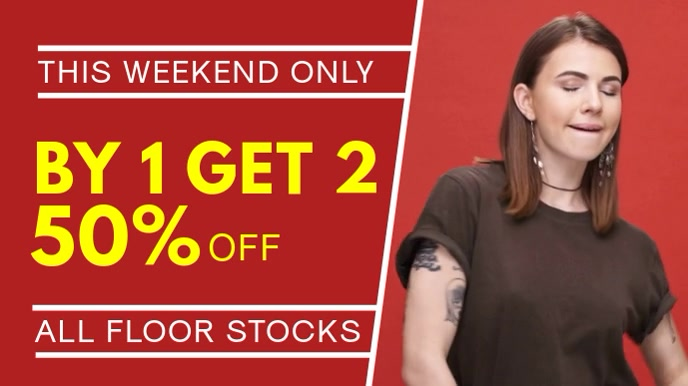 Red Retail Discount Video Template