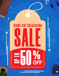 Red Retail End of Season Sale Tag Template Folder (US Letter)