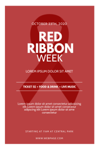 Red Ribbon week Flyer Design Template