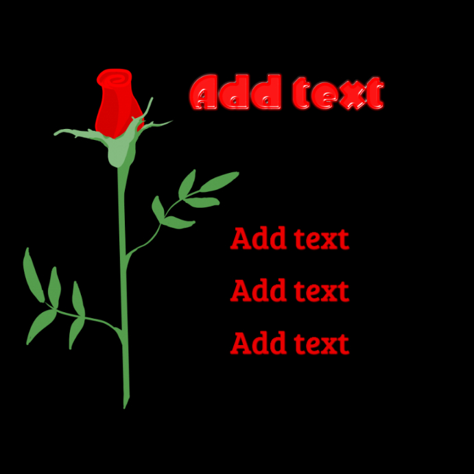 red rose and red text instagram template