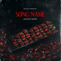 red roses love rap mixtape cover art template
