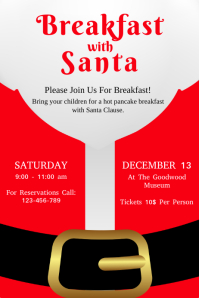 720 customizable design templates for breakfast with santa