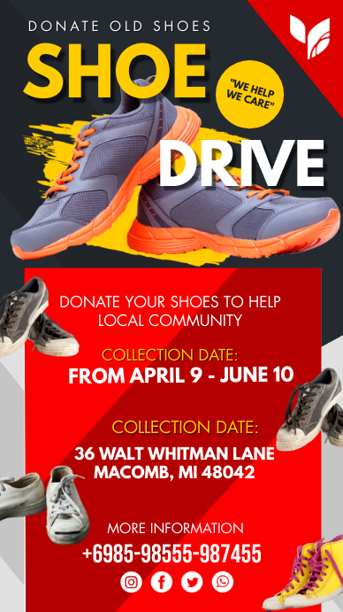 Red Shoe Drive Instagram Story Template