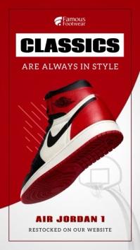 Red Shoe Product Display Instagram Story Instagram-verhaal template