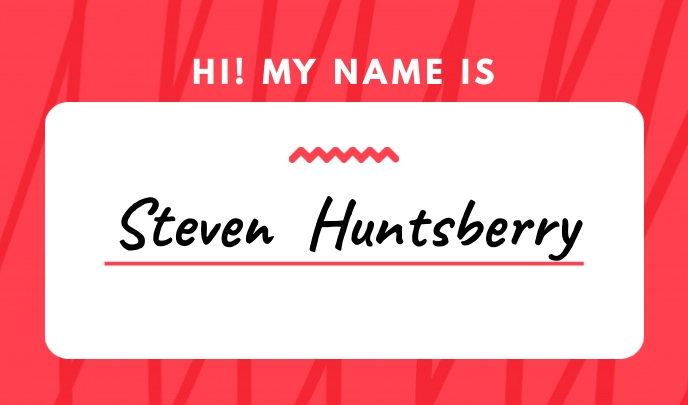 Red Simple Nametag Тег template