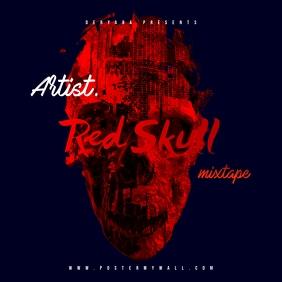 Red Skull Mixtape CD Cover Template