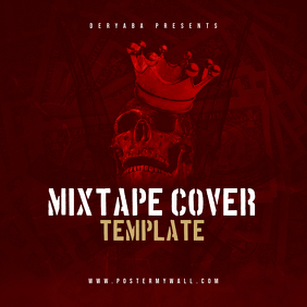 Red Skull Rap Hip-Hop CD Cover Template