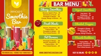 Red Smoothie Bar Menu Digital Display Templat template