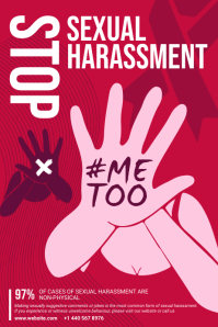 Red Stop Sexual Harassment Poster