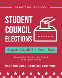 Red Student Council Election Flyer Template
