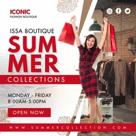 Red Summer Clothes Boutique Instagram Post Te template