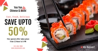 Red sushi facebook post template