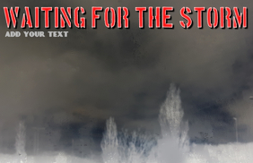 red text - waiting for the storm - tabloid template to print