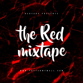 Red Texture Mixtape CD Cover Template