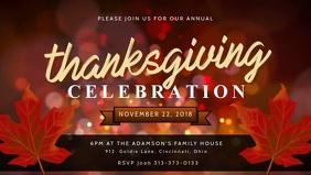 Red Thanksgiving Dinner Video Advert