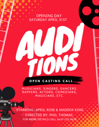 Red Theater Auditions Casting Call Flyer