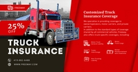 Red Truck Insurance Firm Ad Facebook Post Tem Obraz udostępniany na Facebooku template