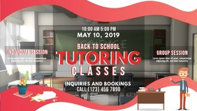 Red Tuition Class Banner Template