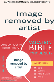 Red Vacation Bible School Template