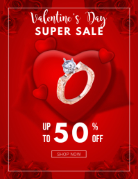 Red Valentine's Day Flyer template