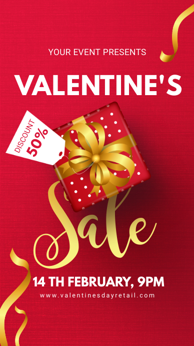 Red Valentine's Sale Digital Advert