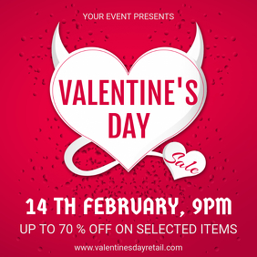 Red Valentine's Story Sale Instagram Ad