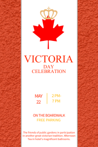 Red Victoria Day Template Poster
