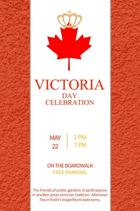 Red Victoria Day Template