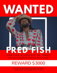 Red Wanted Person Flyer