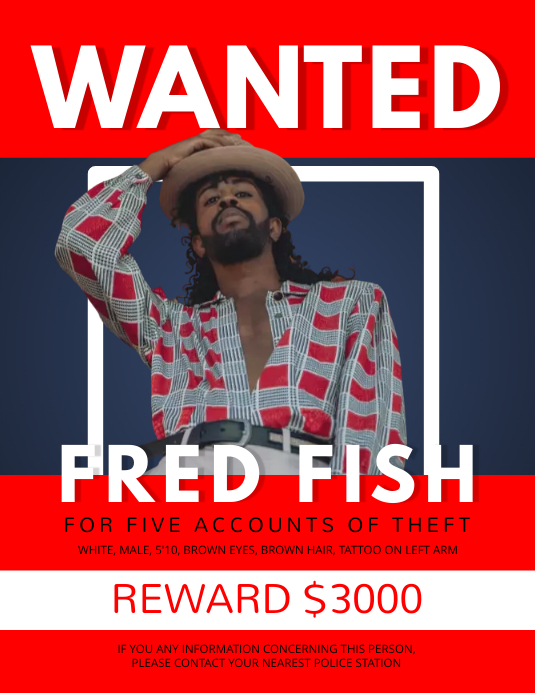 Red Wanted Person Flyer template