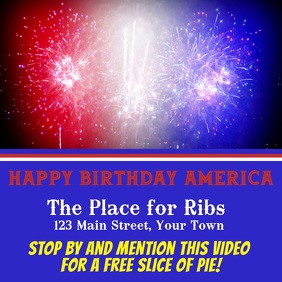 Red White & Blue Fireworks Ad