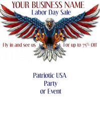 red white blue patriotic flyer