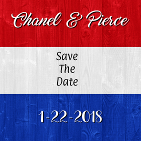 Red White Blue Save the Date
