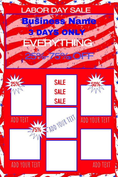 red white blue template