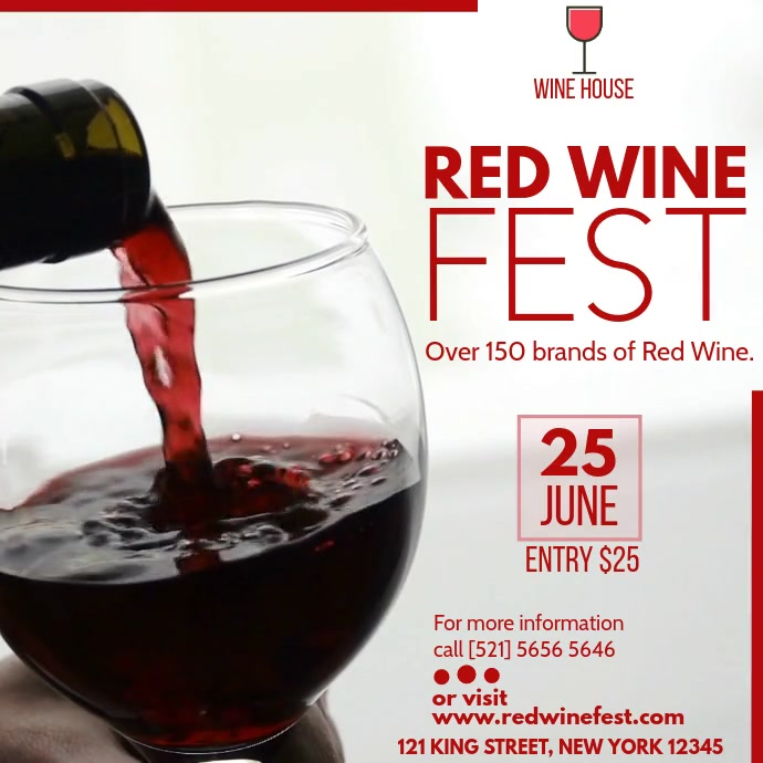RED WINE FEST Persegi (1:1) template