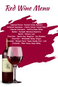 Red wine Menu