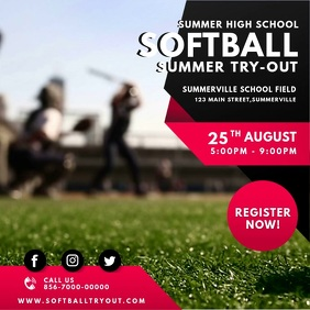Red Women's Softball Tryouts Video Ad