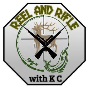 Reel and Rifle hunting design โลโก้ template