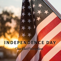 Ref: Independence Day Instagram-opslag template