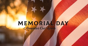 REF: MEMORIAL DAY Portada de evento de Facebook template