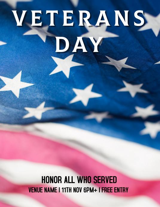 Ref: Veterans Day Folheto (US Letter) template