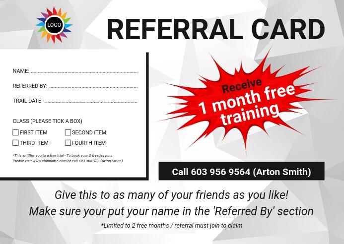 Referral Card Poskaart template