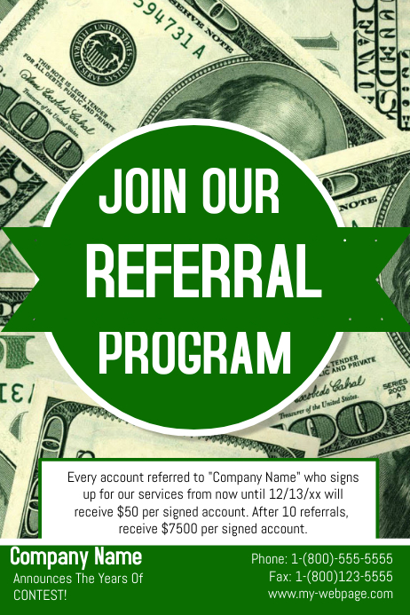 referral flyer ideas