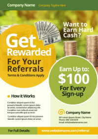 Referral Program Flyer A4 template