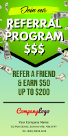 Referral Program Roll Up Banner Spanduk Gulir Atas 3' × 6' template