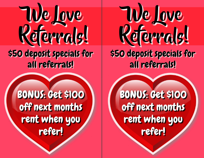 Referral Promotion Apartments
