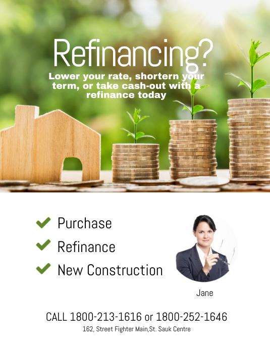 Refinancing Flyer Template