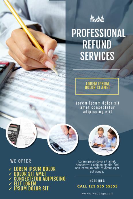 Refund Service Flyer Template