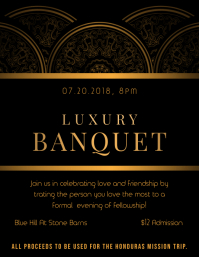 Regal Black Banquet Party Invitation Flyer Template