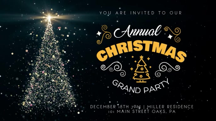 Regal Christmas Party Animated Facebook Banner